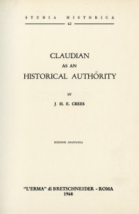 Claudian as an Historical Authority.