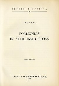 Foreigners in Attic Inscriptions.